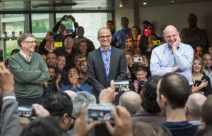 Bill Gates, Satya Nadella and Steve Ballmer