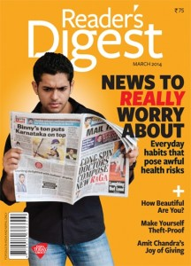 Reader's Digest India - March 2014 Issue - Cover Page