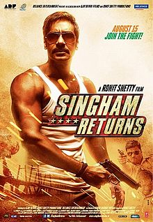 Singham Returns - Hindi Film - Poster