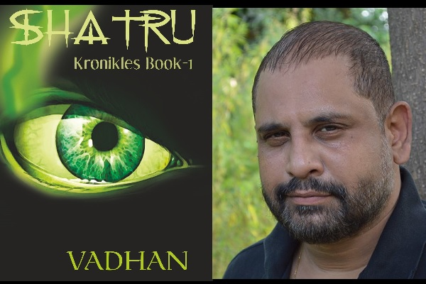 Author Vadhan and Cover of Shatru Kronikles Book 1