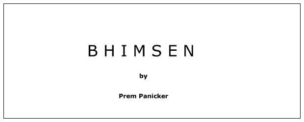 BHIMSEN by Prem Panicker | Mahabharata As Bhim View It | Book Reviews