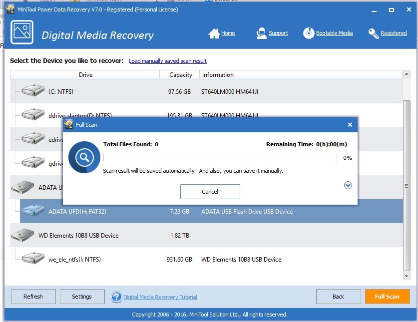 Start Digital Media Recovery