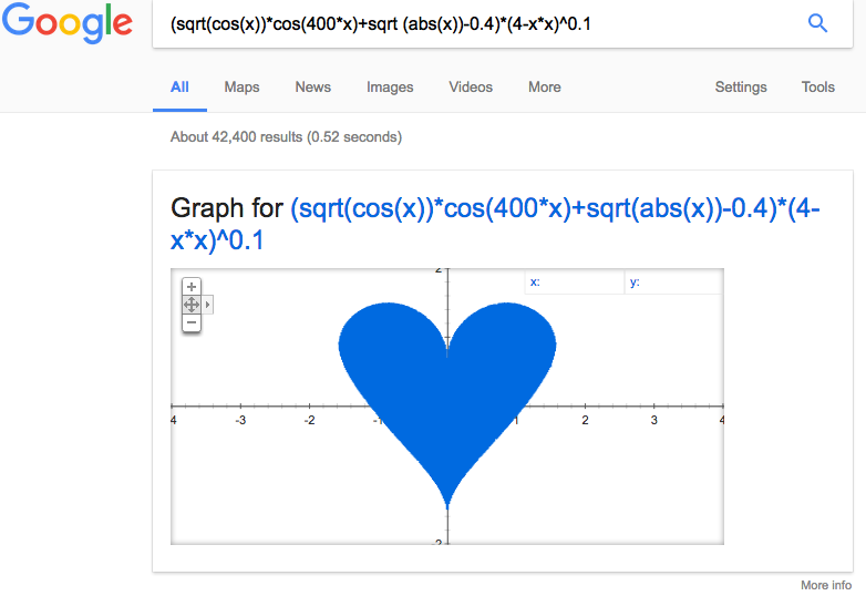Google Search Tips - 1 - Heart Shape