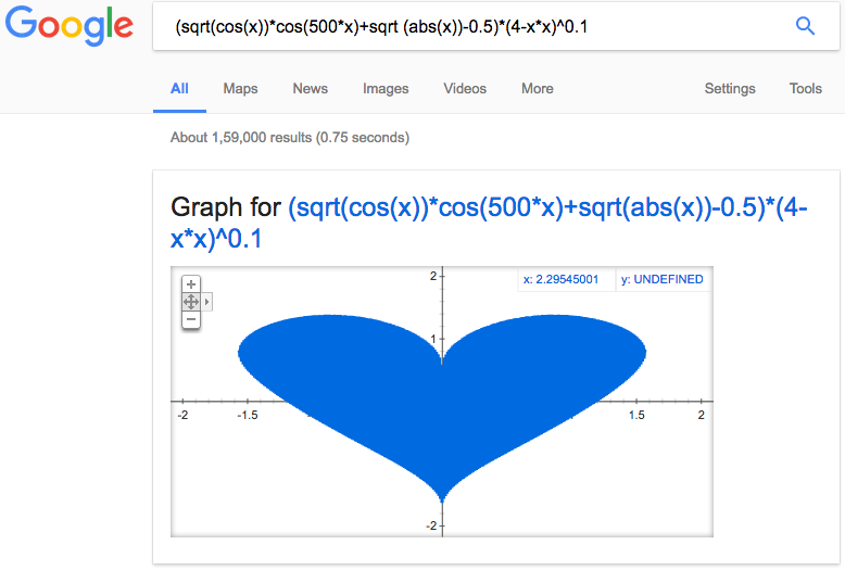 Google Search Tips - Wide Heart Shape