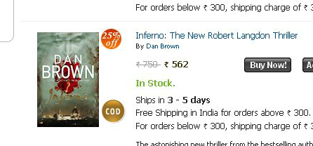 Inferno - by Dan Brown, Price at crossword.in