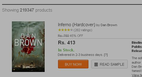 Inferno - by Dan Brown, Price at flipkart.com