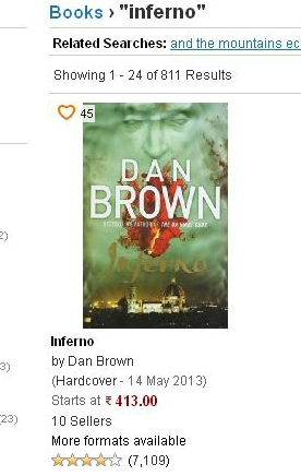 Inferno - by Dan Brown, Price at junglee.com