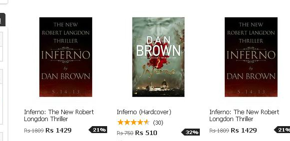 Inferno - by Dan Brown, Price at snapdeal.com