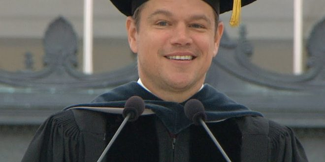Lessons To Learn From Matt Damon's commencement speech at MIT