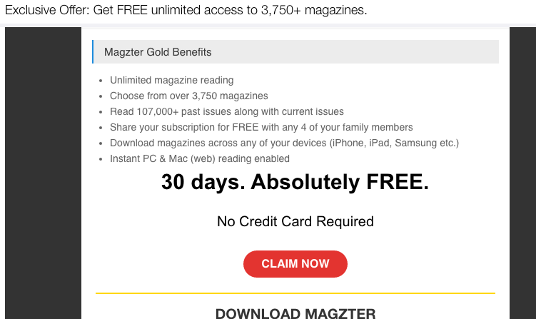 Magzter Gold Offer