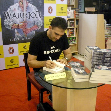 Olivier Lafont - Signing Warrior For Readers At An Event