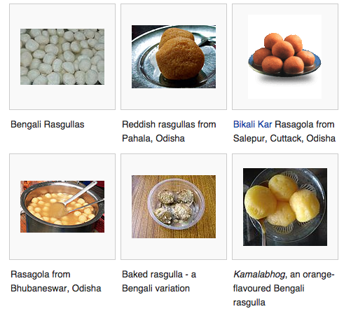 Rasgulla - Wikipedia article