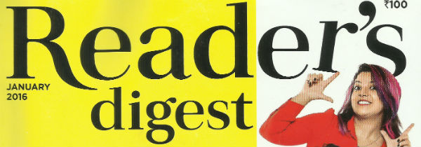 Reader's Digest India   January 2016 Issue   Magazine Reviews