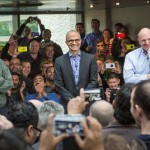 Bill Gates, Satya Nadella and Steve Ballmer
