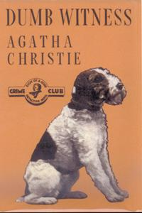 Dumb Witness - by Agatha Christie - first edition cover (1937)