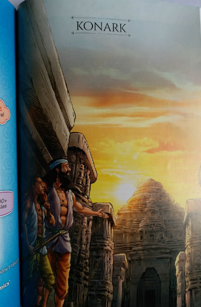 The tale of Konark - Amar Chitra Katha : Story Cover