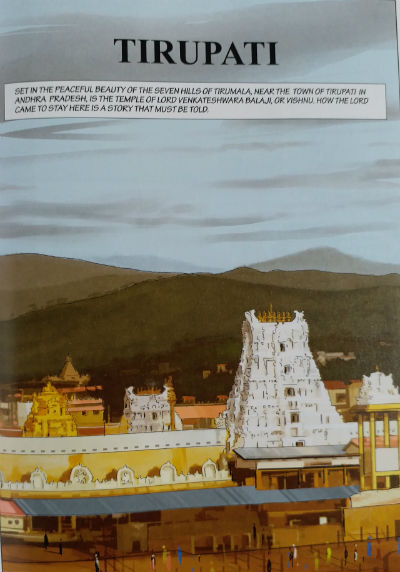 The tale of Tirupati - Amar Chitra Katha : Story Cover