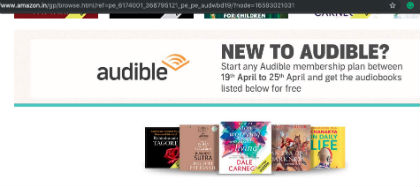 Audible - World Book Day Offer - Free AudioBooks If You Subscribe To Any Audible Plan During The Offer Period
