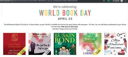 Audible - World Book Day Offer - Free AudioBooks Catalog