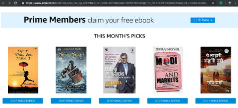 One Free Ebook Every Month For Amazon India Prime Members | Mar 2019 Catalog
