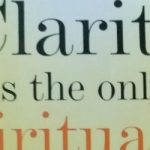 Clarity is the only Spirituality by Susunaga Weeraperuma - Book Cover