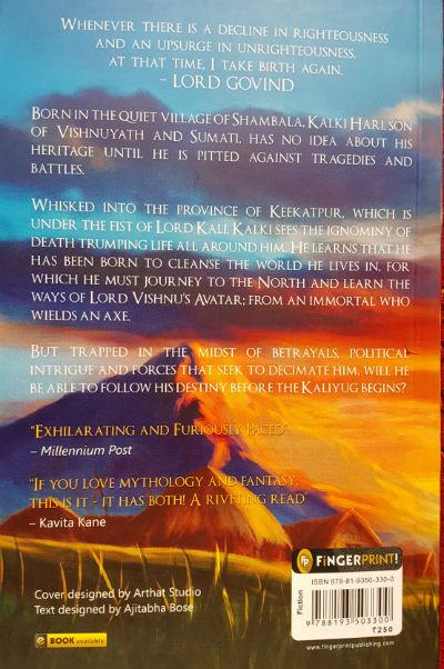 Dharmayoddha Kalki - Avatar of Vishnu By Kevin Missal | Book Back Cover