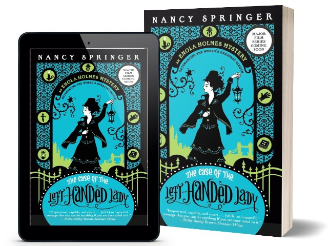 Enola Holmes Book 2 -The Case of the Left Handed Lady by Nancy Springer | Book Cover