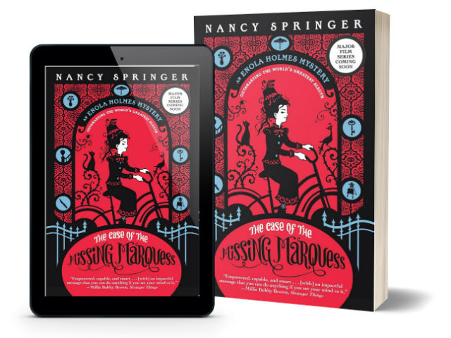 Enola Holmes Mysteries by Nancy Springer - The Case of the Missing Marquess | Book Cover (Original)