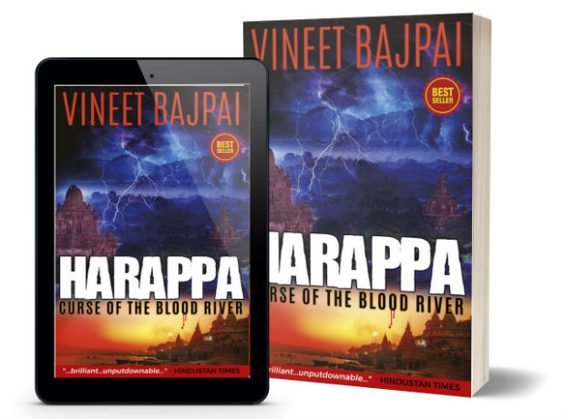 Harappa: Curse of the Blood River by Vineet Bajpai | Book Cover