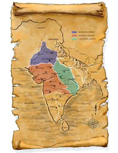 Map from The Genius of Indraprastha (Gondwana Chronicles Book 1)