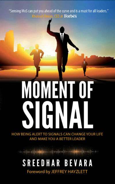 Moment of signal by Sreedhar Bevara | Book Cover
