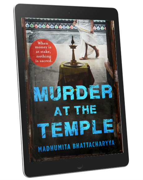 Murder at the Temple | A Thriller By Madhumita Bhattacharyya | Book Cover