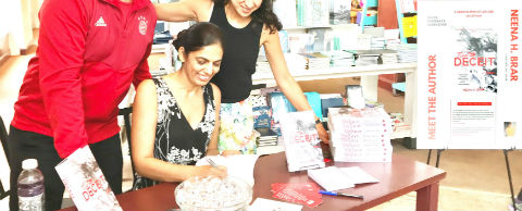 Author Neena H. Brar at a Book Signing Event for - Tied To Deceit