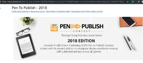 Amazon India - Pen To Publish 2018 - A Program For Authors and Wannabe Authors