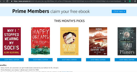 One Free Ebook Every Month For Amazon India Prime Members | Feb 2019 Catalog