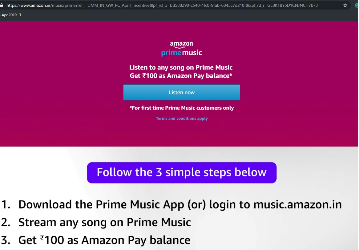 Amazon Prime Music | Play And Win Contest