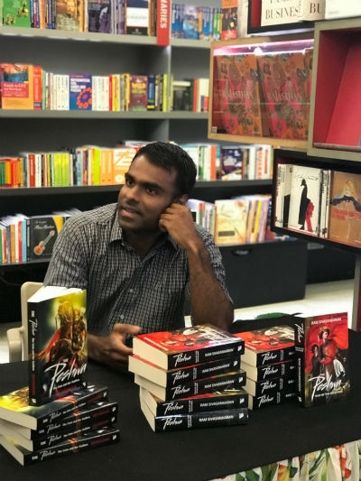 Ram Sivasankaran - The Author Of - The Peshwa - Book Series - In A Book Signing Event