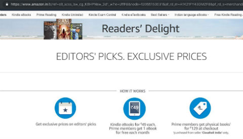 Amazon India Reader's Delight for Prime members
