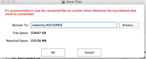 Damaged Partition Recovery - Specify Path.