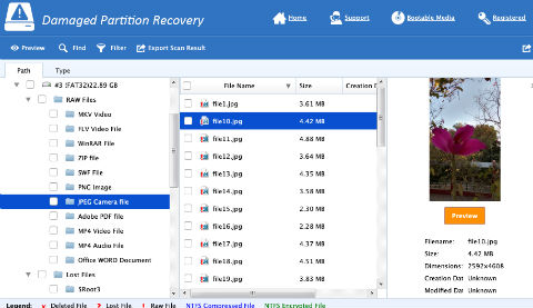 Damaged Partition Recovery - Explore And Preview Other Versions
