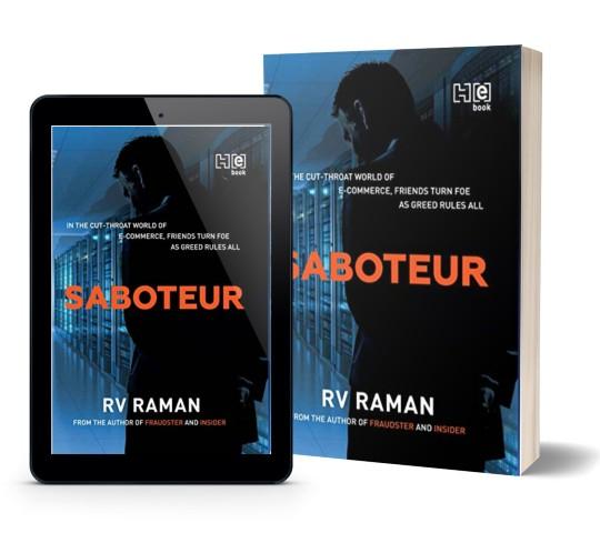 Saboteur By R V Raman | Book Cover