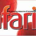 Safari Magazine - English Edition - December 2014 Issue - Cover Page