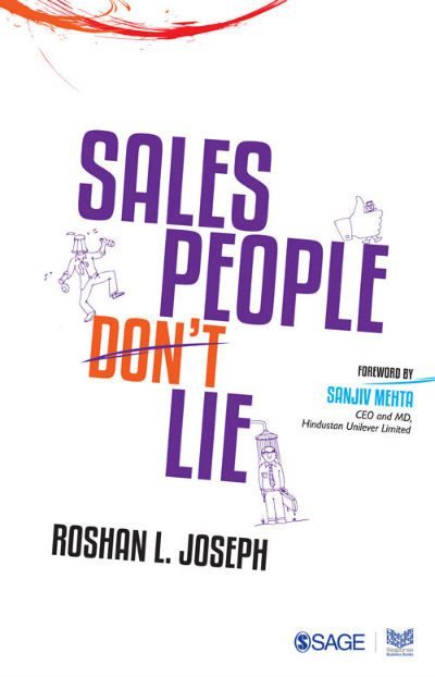 Salespeople Don't Lie by Roshan L. Joseph | Book Cover