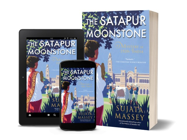 The Satapur Moonstone by Sujata Massey | Book Cover