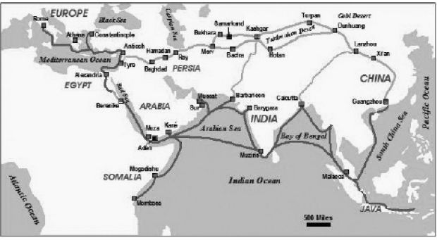 The Silk Route Map From Book Ashok and the Nine Unknown by Anshul Dupare