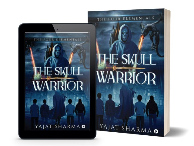 The Skull Warrior (2nd Book in The Four Elementals Trilogy) by Yajat Sharma | Book Cover