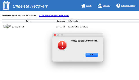 Undeleted Recovery - Step 2